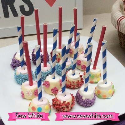 Sew White surprise wedding anniversary party food 5
