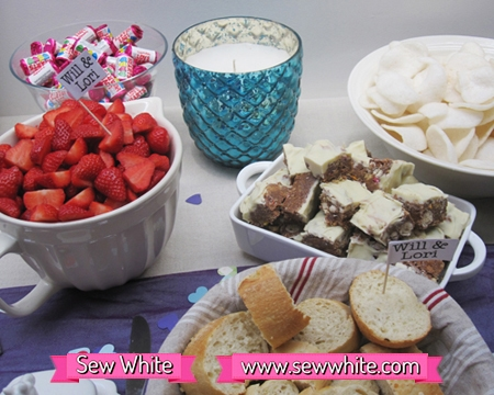 Sew White surprise wedding anniversary party food 6