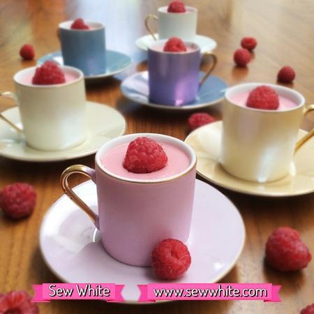 Sew White summer raspberry fool 1