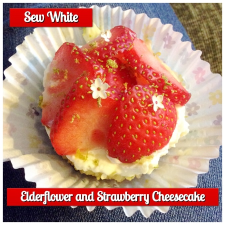 Elderflower cheesecake sew white
