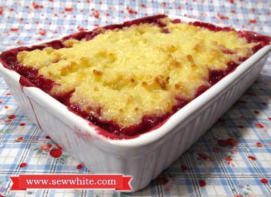 Sew White Christmas jam rice pudding 1