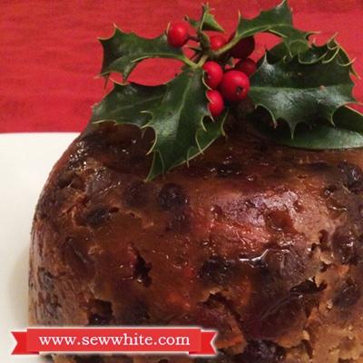 Sew White Stir it up Sunday Christmas pudding 4