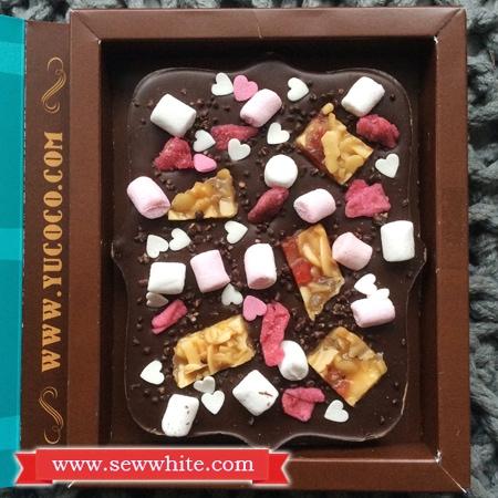 Sew White Yucoco personalised chocolate bar 3