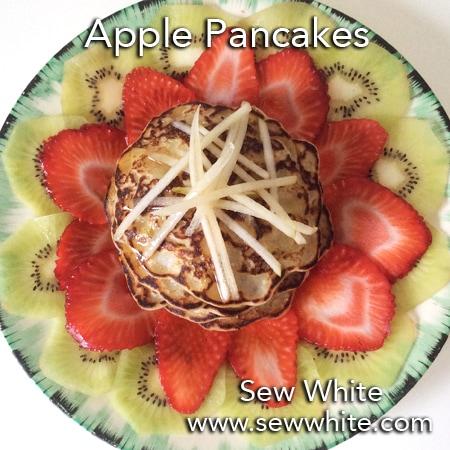 Sew White apple pancakes recipe fruit salad mothers day 8