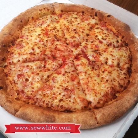 Sew White Papa Johns Pizza Night 6