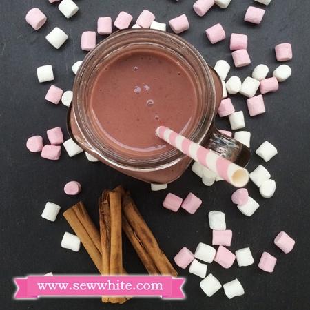 Sew White Raspberry Chocolate and Cinnamon Milkshake recipe 4