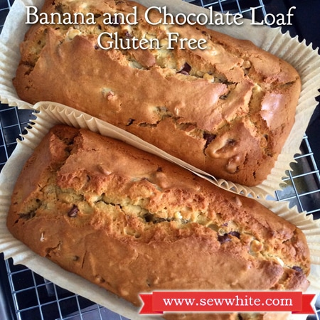 Sew White gluten free banana and chocolate loaf 1