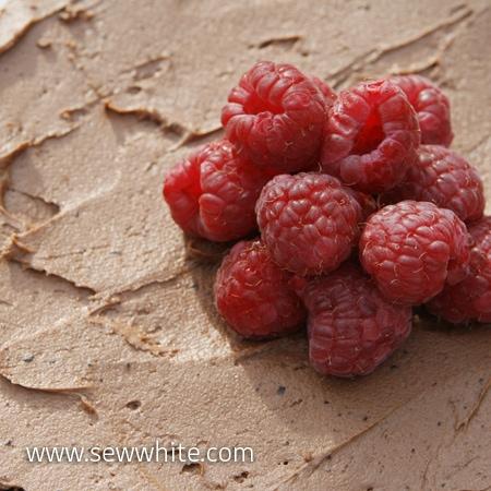Sew White gluten free chocolate and raspberry cake 3