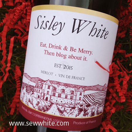 Sew White personalised gift solutions wine bottle 2