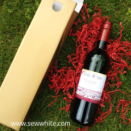 Sew White personalised gift solutions wine bottle 3