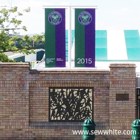 The banners of Wimbledon tennis at AELTC
