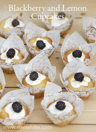 Sew White blackberry lemon cupcakes 2