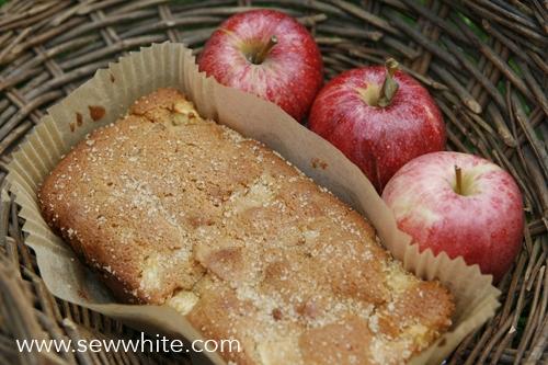 Sew White Apple, Ginger and Fudge Autumn Cake recipe 2