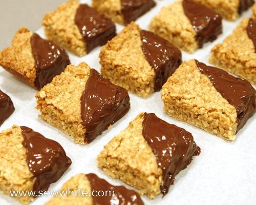Chocolate Flapjacks recipe sew white 1