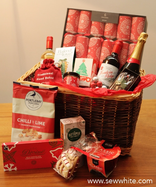 Sew White A night in with a John Lewis hamper 1