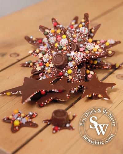 Sew White Chocolate Star Christmas Tree 5