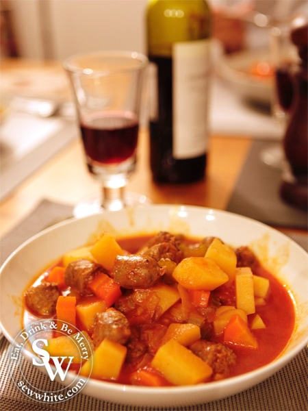 Sew White Slow Cooker Venison Sausage Stew 2