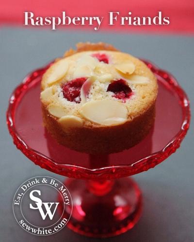 Sew White raspberry friands 3