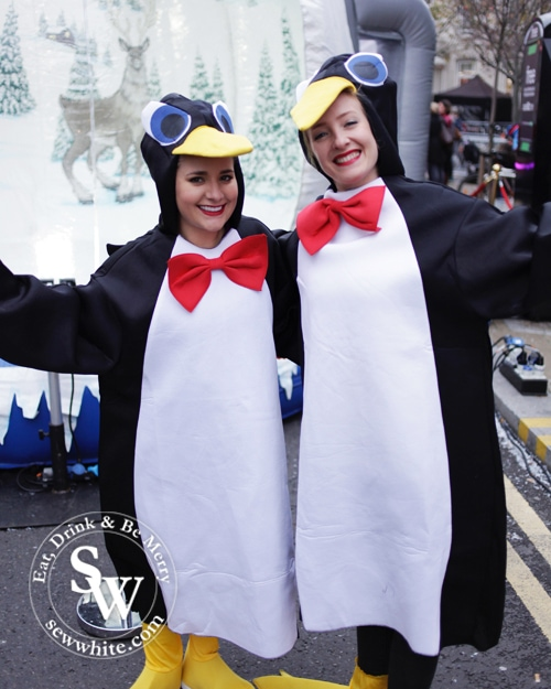 happy penguins at the Love Wimbledon Winter Wonderland 2016