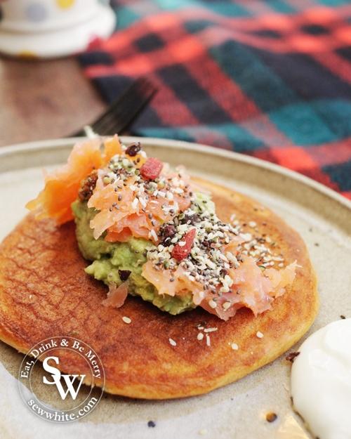 pancake day inspiration salmon and avocado