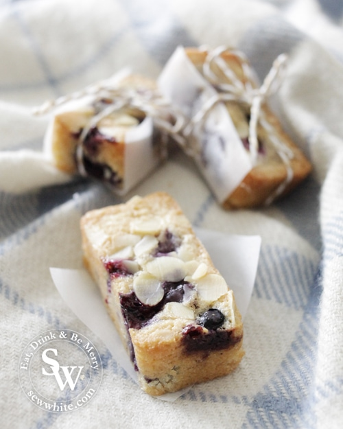 Blueberry Friand Bars