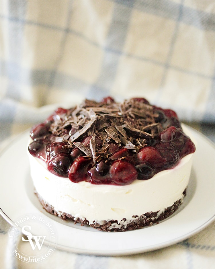 the most perfect Black Forest Cheesecake