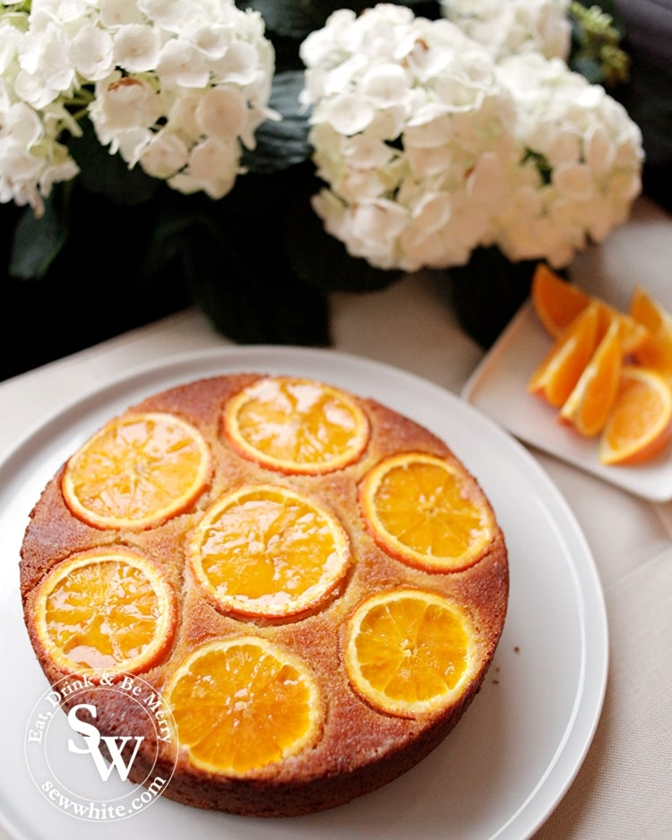 Orange upside down cake fresh out of the oven best served warm. Orange Drizzle Cake