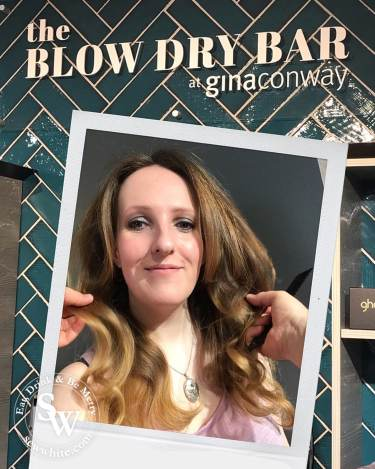 Finished blow dry at the blow dry bar in Wimbledon.