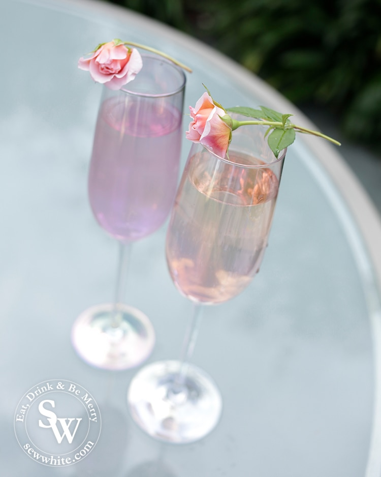 rose and elderflower fizz in the easy cocktail recipes