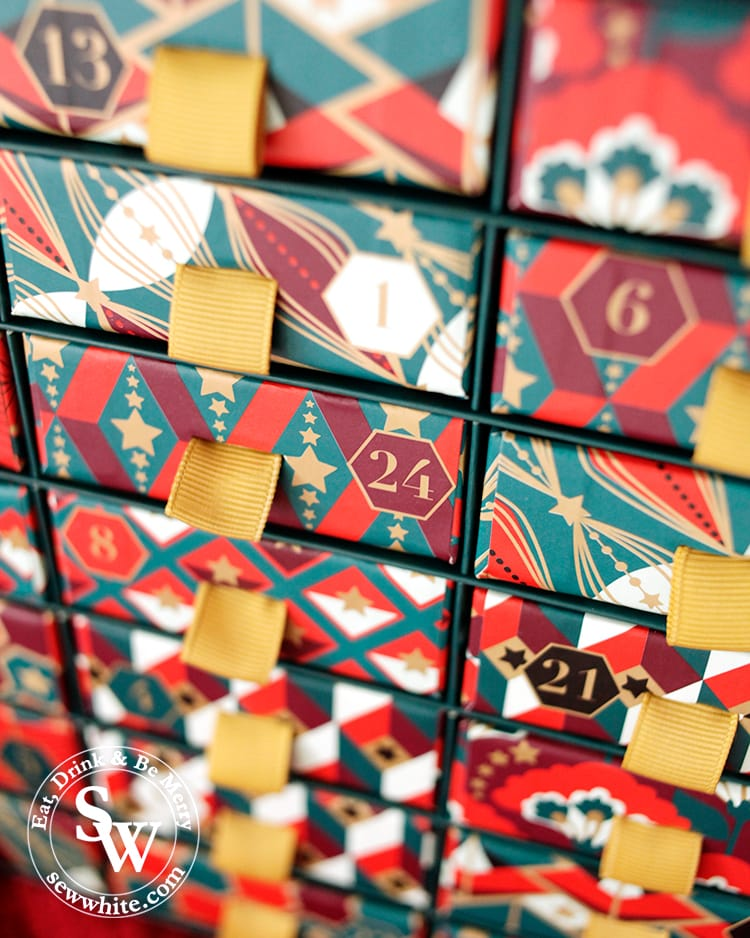 Top 5 advent calendars for Christmas featuring the Whittard Christmas advent calendar.