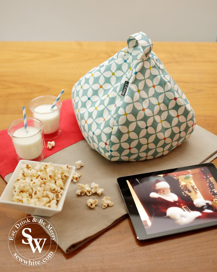 soft mini beanbag for your iPad perfect for Christmas movie nights.