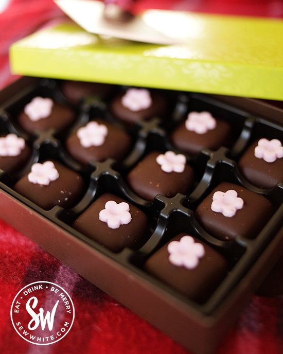 rose and raspberry chocolates for valentines day