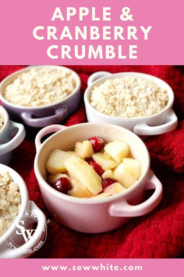 apple and cranberry crumble pinterest