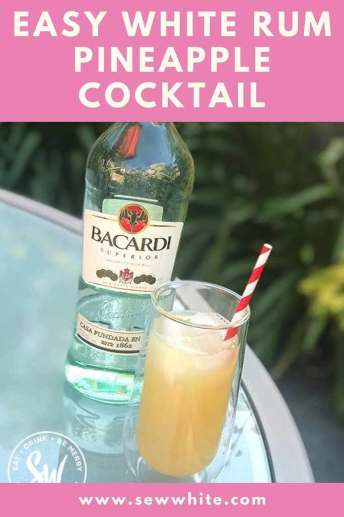 easy white rum pineapple cocktail pin