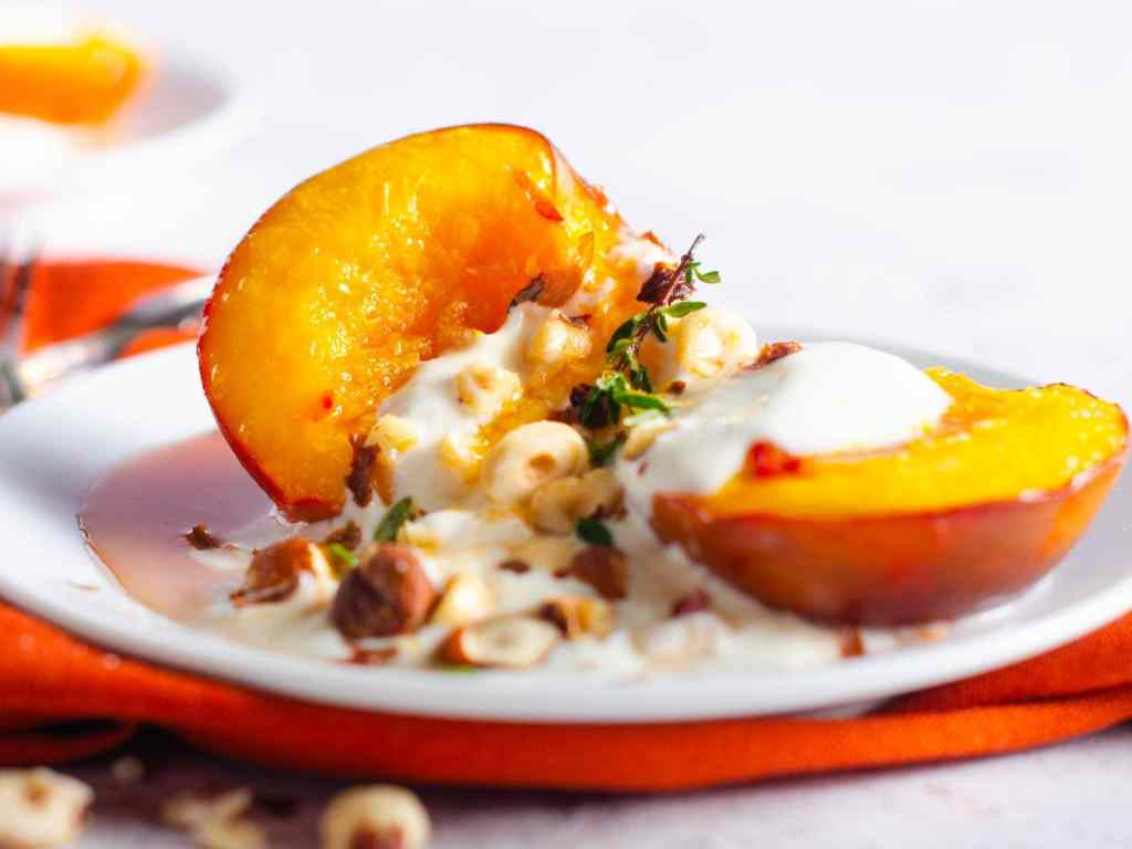 grilled nectarines by lost in food in the Summer Fruit Desserts round up