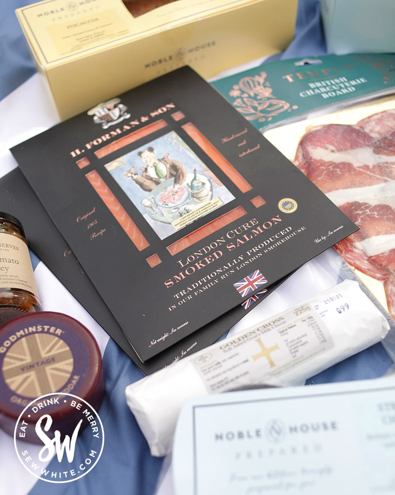 Noble House picnic packages salmon and cheese for charcuterie board