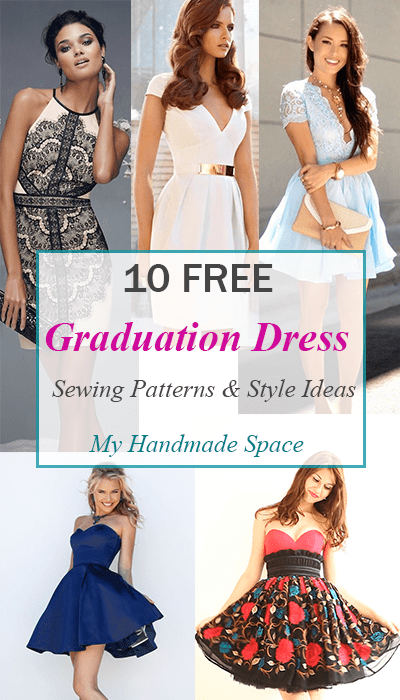 10 FREE Graduation Dress Sewing Patterns - My Handmade Space
