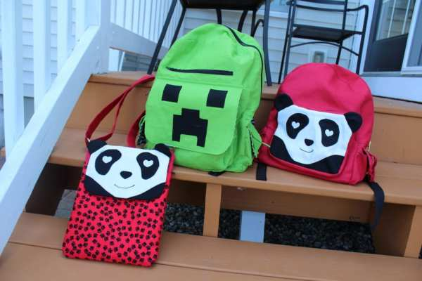 Panda and Minecraft Backpacks and Panda Tablet Bag