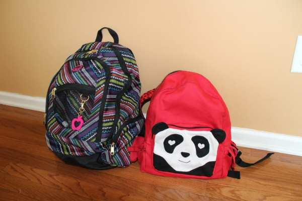 Panda Backpack Compared to a School Backpack