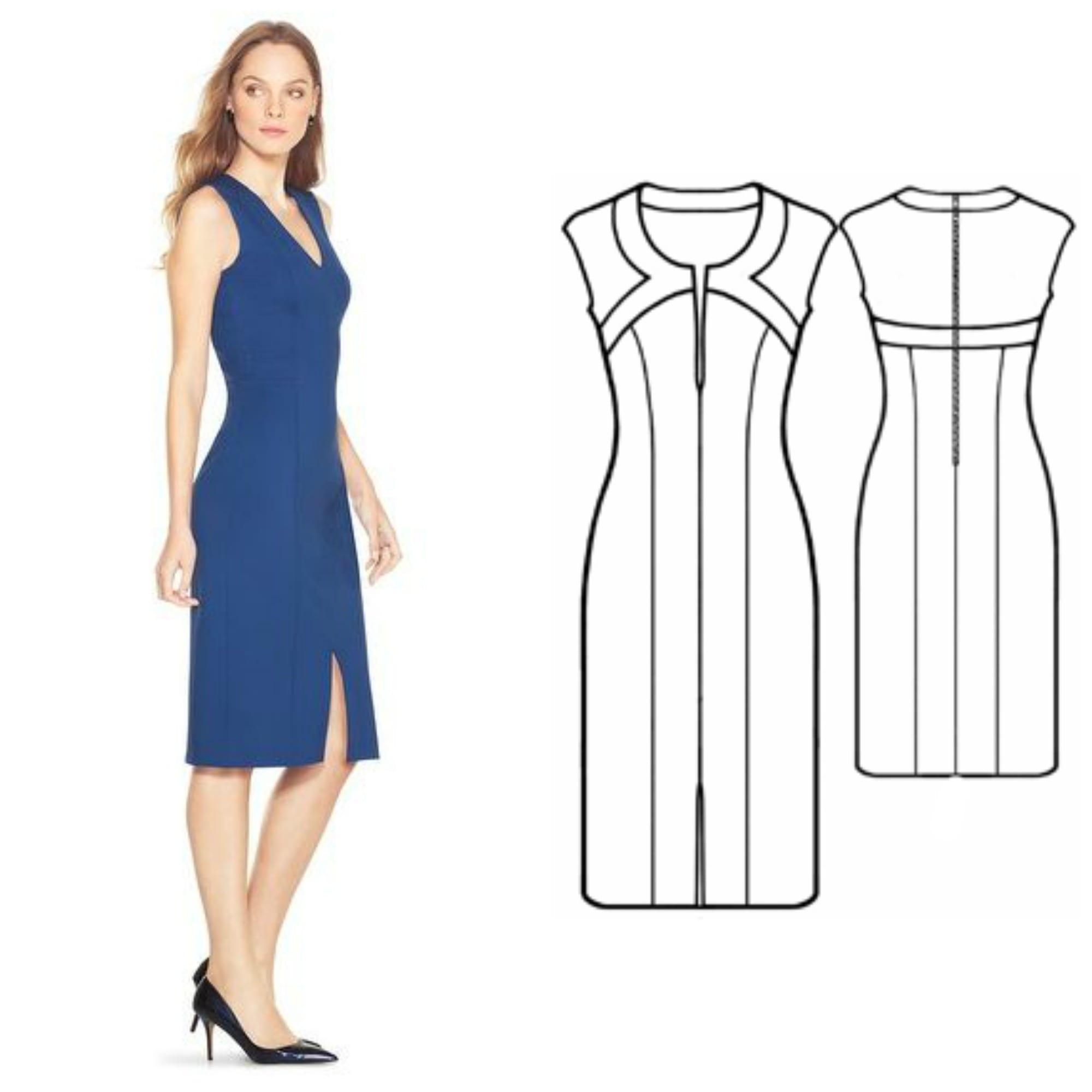Free Dress Patterns: Shaped Trim Dress