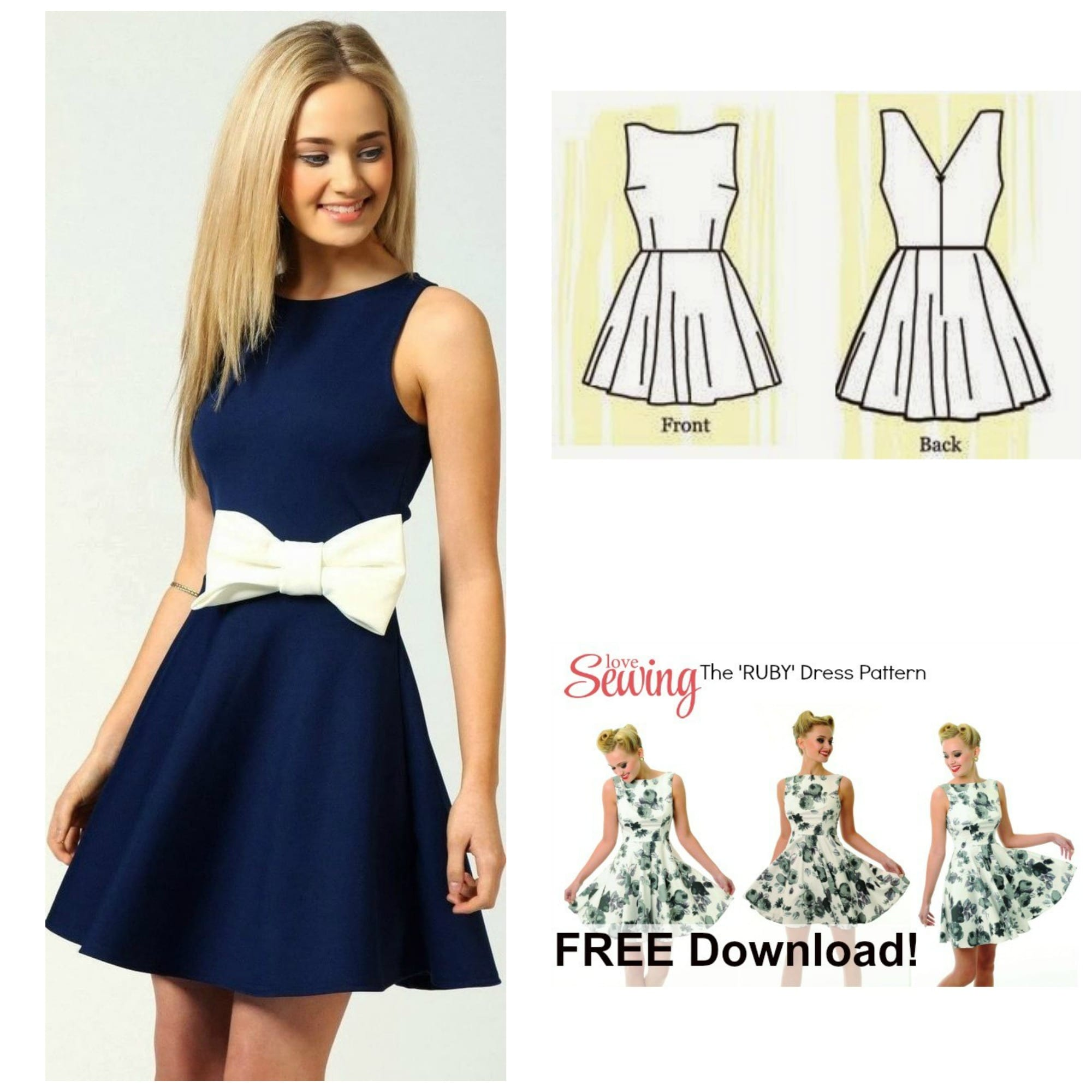 Free Dress Pattern: The Ruby Dress