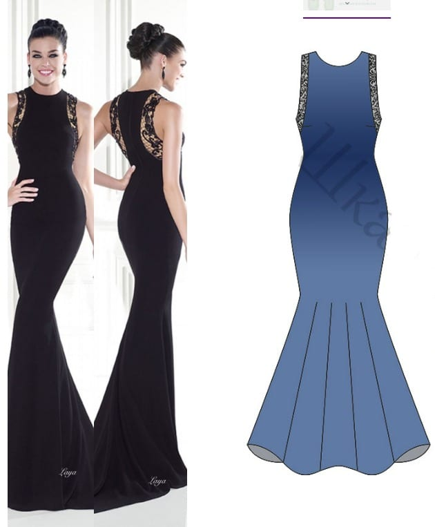 Evening Dress Pattern Free