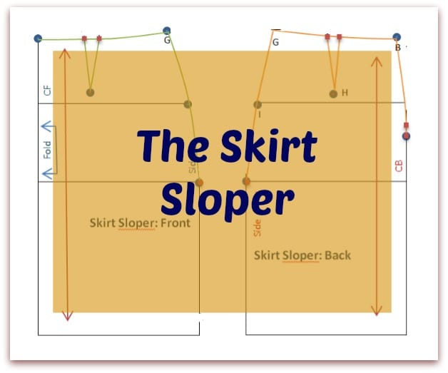 How to make a Skirt Sloper