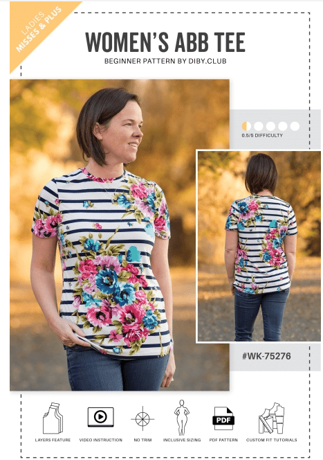 ABB Tee Free Sewing Pattern