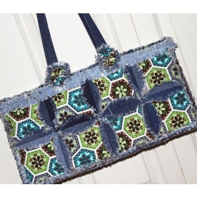 Denim Circle Rag Bag Pattern