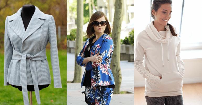 10 FREE Patterns to Sew Jackets & Coats