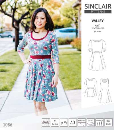 Pdf_sewing_pattern_S1086_Valley_knit_skater_dress_with_lanterns_sleeves_halter_style_for_women_pdf_sewing_pattern_by_Sinclair_Patterns_tda5