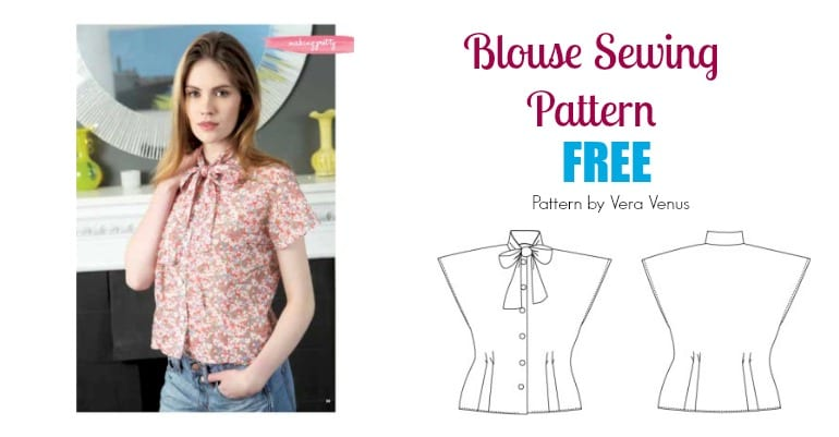 49d923f05eb Free Blouse Sewing Pattern: Pussycat Bow Blouse