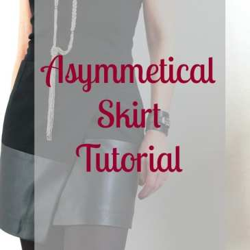 asymmetrical skirt tutorial