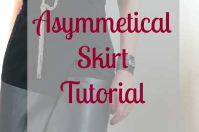 asymmetrical skirt tutorial